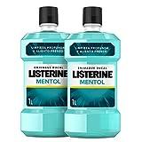 Listerine Enjuague Bucal, Mentol, Pack de 2 x 1000 ml
