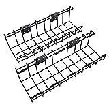 KD Essentials – Bandeja para cables de metal,...