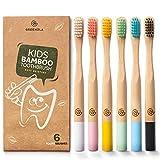 Greenzla Cepillos de dientes de bambú para niños...