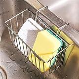 Perfetsell Soporte de Esponja de Cocina Estropajo Estante de Acero inoxidable Organizador de Fregadero de Cocina Estante de Almacenamiento para Fregadero Porta Escurridor de Líquido Cesta de Rejilla