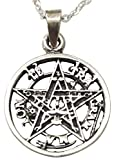 Sicuore Collar Colgante Tetragramaton - Plata de...