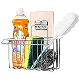 Bogeer Estante de almacenamiento para fregadero Organizador Sink Caddy Soporte para Utensilios de Cocina para el Fregadero Acero Inoxidable Limpieza de Cocina Organizador porta esponja