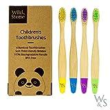 Cepillo de dientes de bambú orgánico para niños...