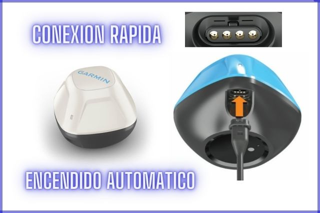 conexión rápida y encendido automático garmin strike cast