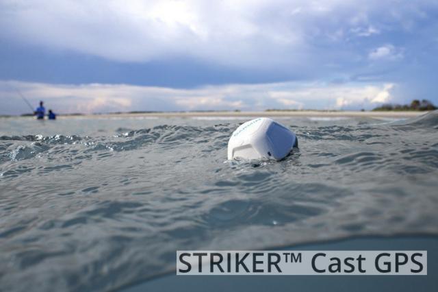 imagen de la sonda portatil garmin flotando